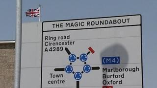 Swindon's magic roundabout sign