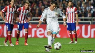 Ronaldo scores for Real Madrid in the Champions League final