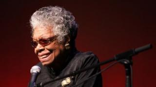 American autobiographer and poet Dr Maya Angelou ( archive image)