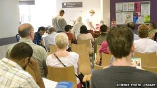 Patients' waiting room