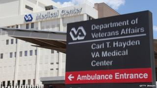 A US veterans affairs medical centre in Phoenix, Arizona, on 8 May 2014