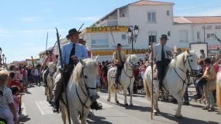 Gypsies riding horses