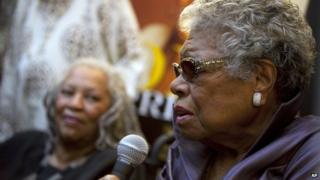 Toni Morrison and Maya Angelou