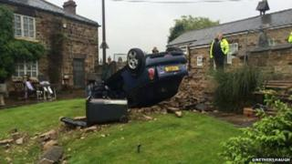 A crash in Nether Haugh