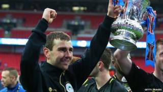 James McArthur with the FA Cup
