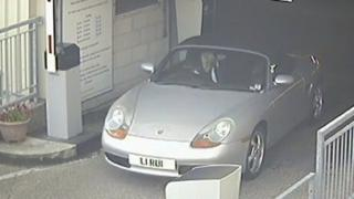 CCTV image of Rui Li leaving the hospital car park
