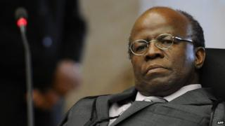 Supreme court judge Joaquim Barbosa, Oct 2012