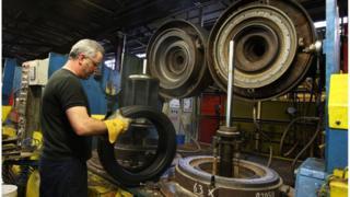 A Dunlop worker
