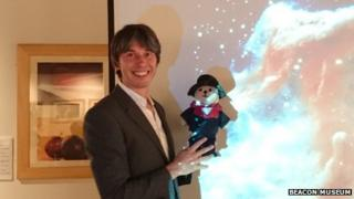 Brian Cox with teddy bear