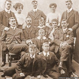 Picture of the Cranston family taken in 1908