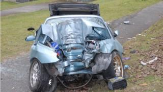 The car in which Josh Williams died