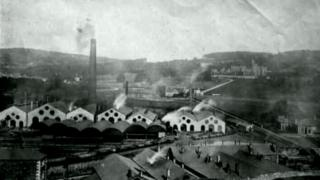 Historic photo of Merthyr Tydfil ironworks