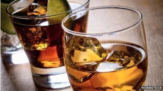 whisky in glasses