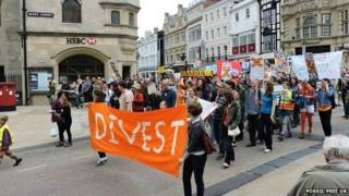 Protest in Oxford on Saturday