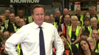 David Cameron speaking in Newark