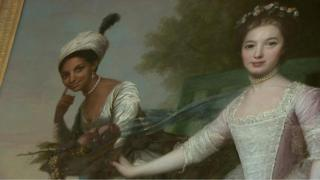 The portrait of Dido Elizabeth Belle and Lady Elizabeth Murray is on display at Scone Palace