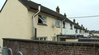 The fire started in an upstairs bedroom of the house in Greenland Walk