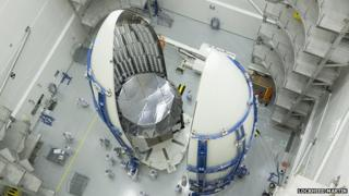 MUOS satellite in launch vehicle