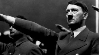 A 1939 photograph of German Nazi Chancellor Adolf Hitler.