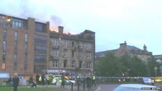 Fire at the Inn on the Green