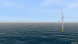 Artist's impression of wind farm