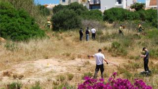 The search site in Praia da Luz