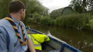 The 2nd Beeston Sea Scouts' base on Barton Island, on the River Trent
