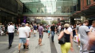 Shoppers in Australia