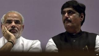 Gopinath Munde (right) was appointed just last week to Prime Minister Narendra Modi's new government