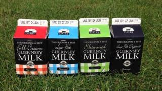 Guernsey Milk cartons