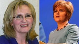 Margaret Curran and Nicola Sturgeon