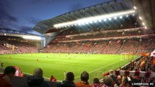 Artist's impression of the new Anfield stadium