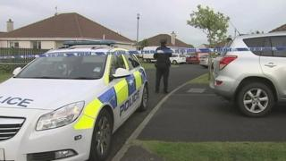 Police at house where Margaret Evans was found dead