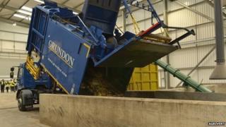Food waste plant
