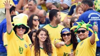 Brazil fans