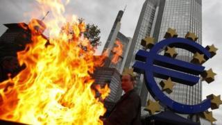 Fire burning outside ECB HQ