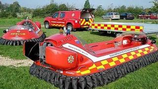 Fire service hovercraft