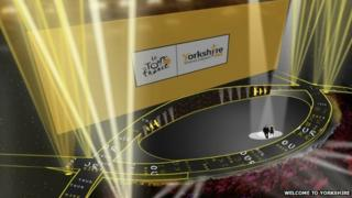 Artist's impression of the Grand Depart Leeds Arena stage