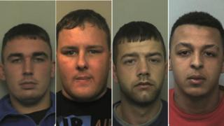 L-R: Gary Rabjohns, Ryan Battersby, Brogan Hooper, Lewis Bridge