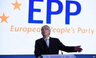 Jean-Claude Juncker speaking at EPP event, file pic