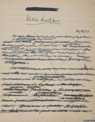 Samuel Beckett manuscript and doodles go on display