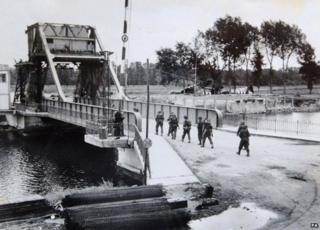 Pegasus Bridge after D-Day, 1944