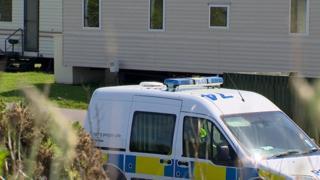 Police at Sandylands in Saltcoats