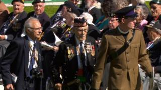 veterans in Normandy
