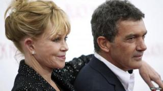 Melanie Griffith and Antonio Banderas earlier this year