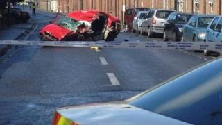 The car crashed in south inner city Dublin