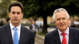 Ed Miliband and Peter Hain
