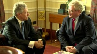 Peter Robinson and Eamon Gilmore