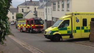 Ambulance and police