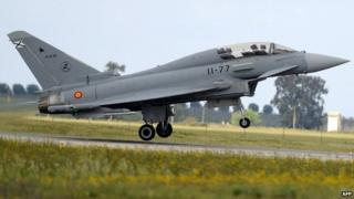 File pic of Eurofighter jet at Moron airbase in Spain (2008)